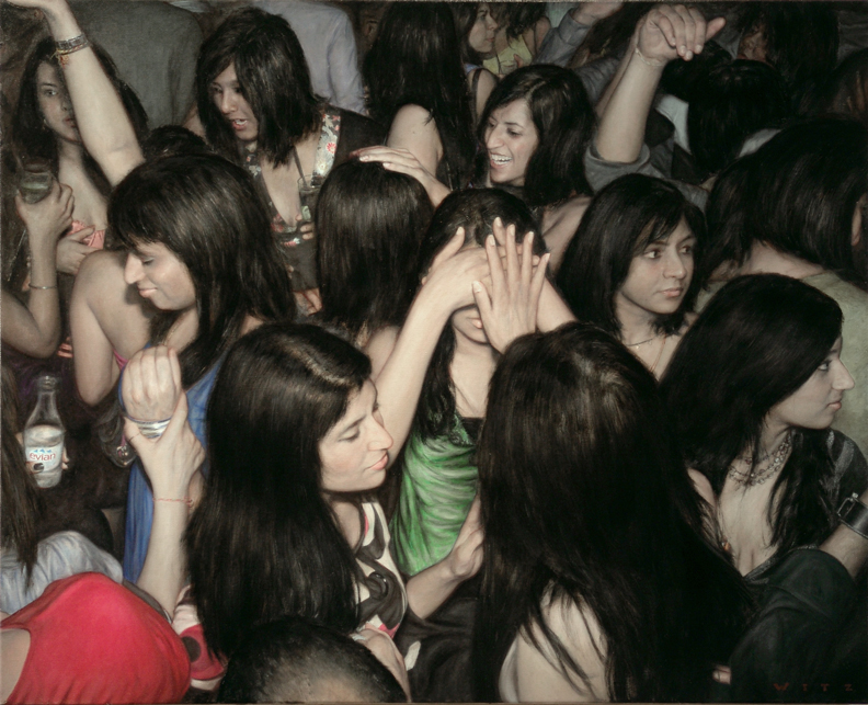 Hyperrealistic Mosh Pit Paintings by Dan Witz