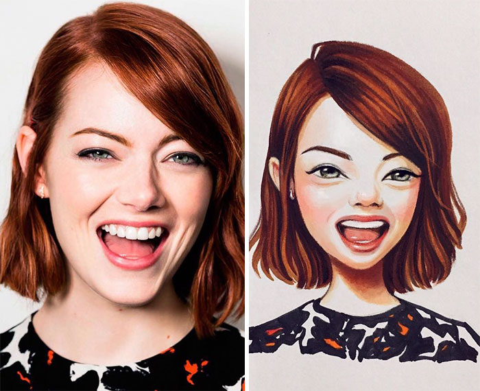 Lera Kiryakova's Celebrity Illustrations